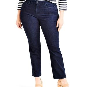 24 Short NYDJ Marilyn Straight Leg dark wash Jeans